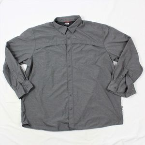 The North Face Mens Snap Button Long Sleeve Shirt